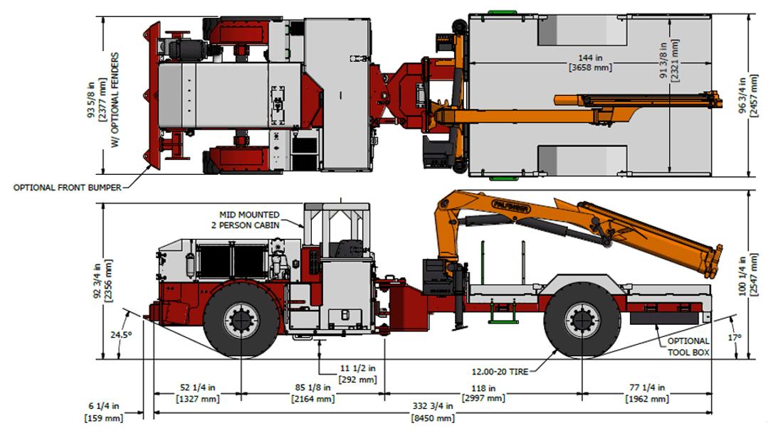 Underground Boom Truck