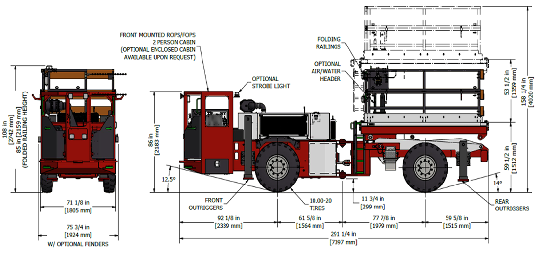 Underground Narrow Vein Truck