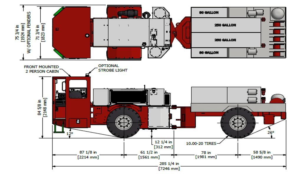 Underground Fuel Lube Truck